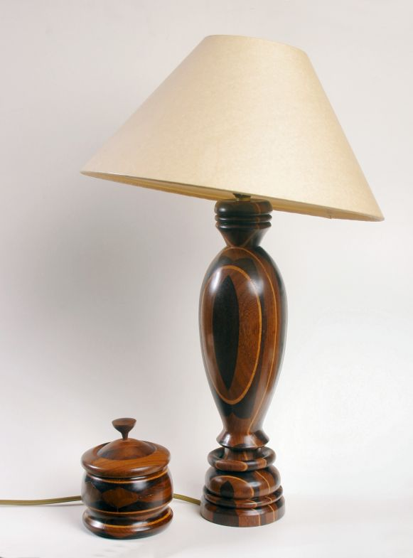 Box and Table Lamp by Chris Richards