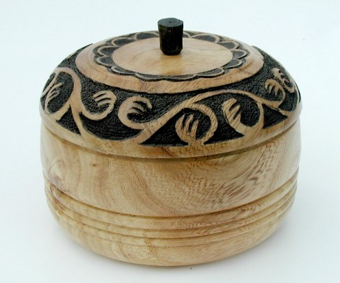 Carved Pot by Gordon Angier