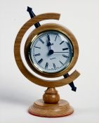 Oak Mantel Clock by Eddie Starsmeare - click for full size image
